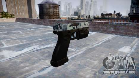 Pistola Glock 20 cráneos para GTA 4 segundos de pantalla