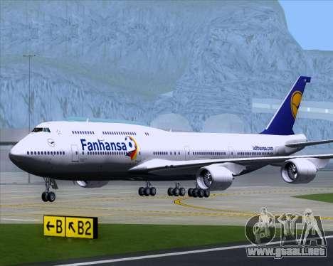Boeing 747-830 Lufthansa - Fanhansa para visión interna GTA San Andreas
