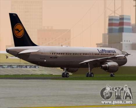 Airbus A320-211 Lufthansa para la visión correcta GTA San Andreas