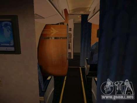 Embraer E190 Azul Tudo Azul para visión interna GTA San Andreas