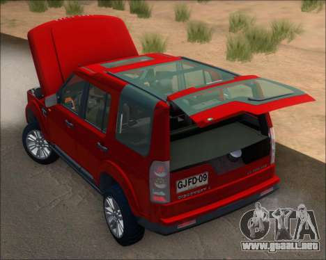 Land Rover Discovery 4 para vista lateral GTA San Andreas