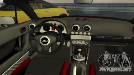 Audi TT Coupe BiMotor Black Revel para GTA Vice City vista interior