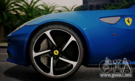 Ferrari FF 2012 para GTA San Andreas vista hacia atrás