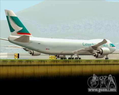Boeing 747-8 Cargo Cathay Pacific Cargo para el motor de GTA San Andreas