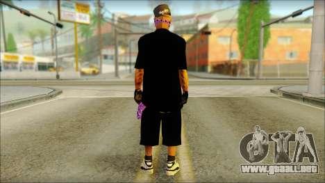 East Side Ballas Skin 2 para GTA San Andreas segunda pantalla