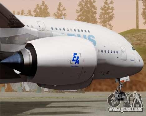 Airbus A380-861 para visión interna GTA San Andreas