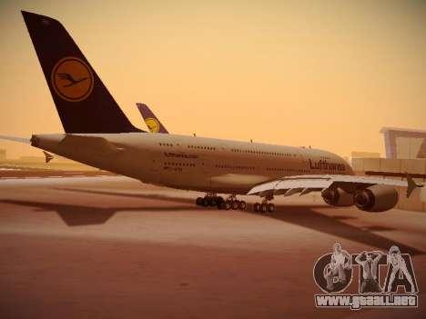 Airbus A380-800 Lufthansa para la visión correcta GTA San Andreas