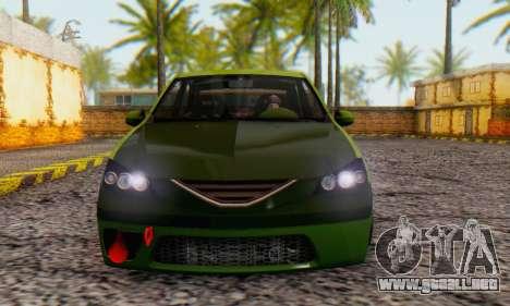 Dacia Logan MOR para GTA San Andreas vista posterior izquierda