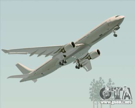 Airbus A330-300 Full White Livery para visión interna GTA San Andreas