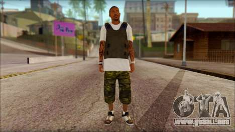 New Grove Street Family Skin v5 para GTA San Andreas