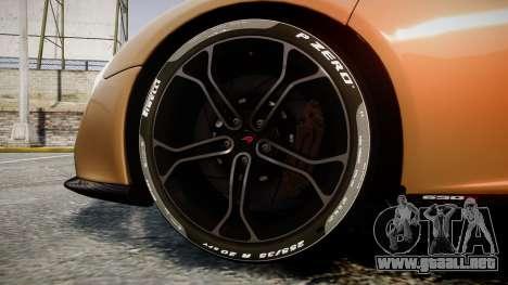 McLaren 650S Spider 2014 [EPM] Pirelli v2 para GTA 4 vista hacia atrás