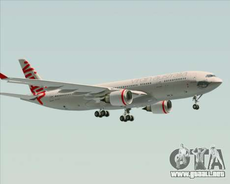 Airbus A330-200 Virgin Australia para vista inferior GTA San Andreas