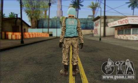 Una de las fuerzas de paz de la ONU (Postal 3) para GTA San Andreas segunda pantalla