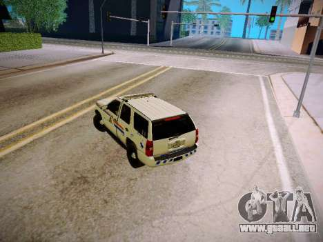 Chevrolet Tahoe 2007 RCMP para visión interna GTA San Andreas