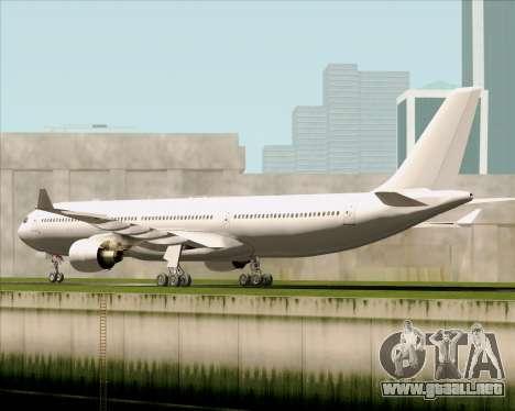 Airbus A330-300 Full White Livery para la visión correcta GTA San Andreas