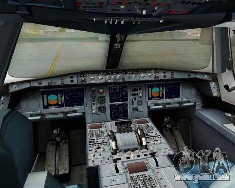 Airbus A380-861 para la vista superior GTA San Andreas