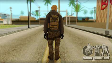 Alfred F. Jones para GTA San Andreas segunda pantalla