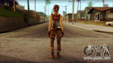 Tomb Raider Skin 7 2013 para GTA San Andreas segunda pantalla
