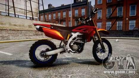 Yamaha YZF-450 Custom para GTA 4 left