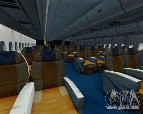Airbus A380-861 para GTA San Andreas interior