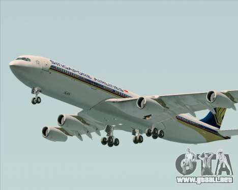 Airbus A340-313 Singapore Airlines para la vista superior GTA San Andreas