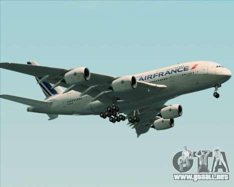 Airbus A380-861 Air France para vista lateral GTA San Andreas