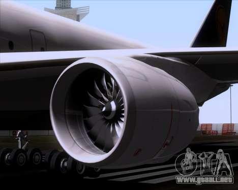 Boeing 747-830 Lufthansa - Fanhansa para vista inferior GTA San Andreas