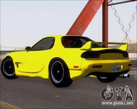 Mazda RX-7 FD3S A-Spec para GTA San Andreas vista posterior izquierda