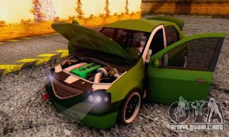 Dacia Logan MOR para vista lateral GTA San Andreas