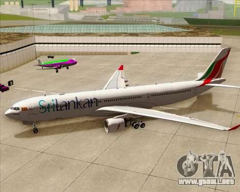 Airbus A330-300 SriLankan Airlines para la vista superior GTA San Andreas