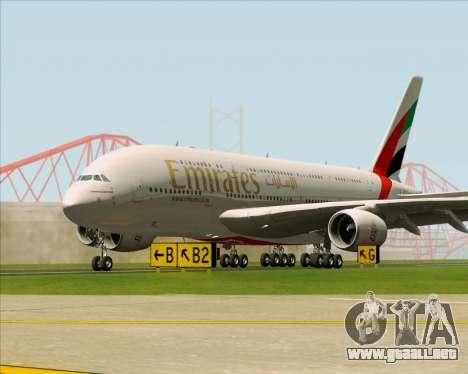 Airbus A380-841 Emirates para vista inferior GTA San Andreas