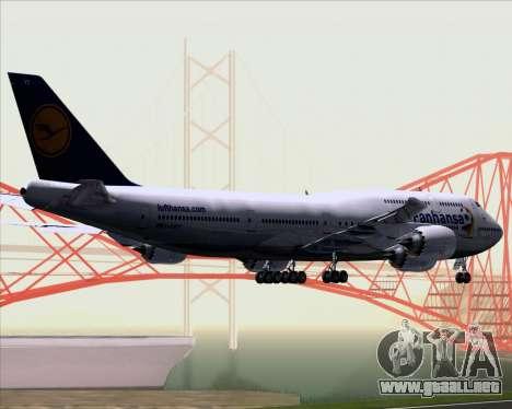 Boeing 747-830 Lufthansa - Fanhansa para GTA San Andreas vista hacia atrás