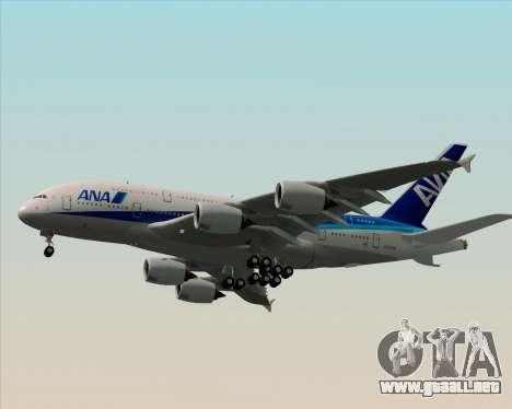 Airbus A380-800 All Nippon Airways (ANA) para la vista superior GTA San Andreas