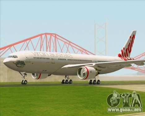 Airbus A330-200 Virgin Australia para GTA San Andreas vista hacia atrás