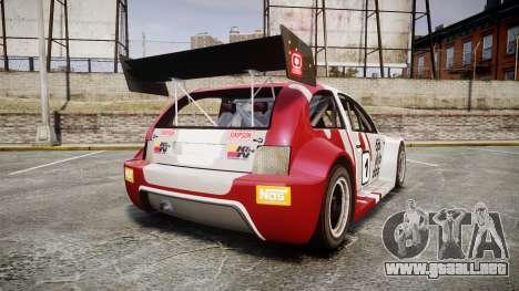 Zenden Cup Dalilfodda para GTA 4 Vista posterior izquierda
