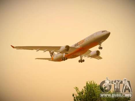 Airbus A330-200 Jetstar Airways para visión interna GTA San Andreas