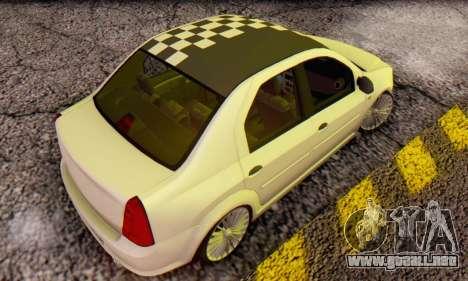 Dacia Logan ZYCU para GTA San Andreas vista posterior izquierda