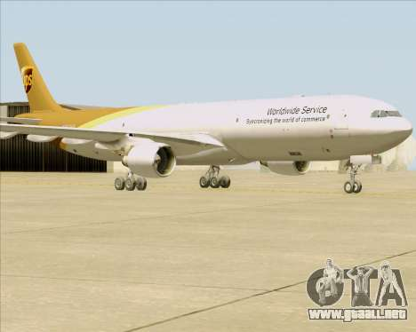 Airbus A330-300P2F UPS Airlines para GTA San Andreas left