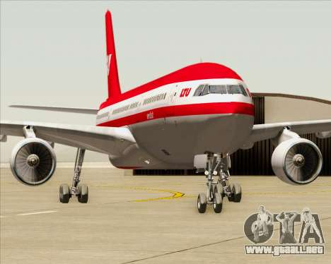 Airbus A330-300 LTU International para vista inferior GTA San Andreas