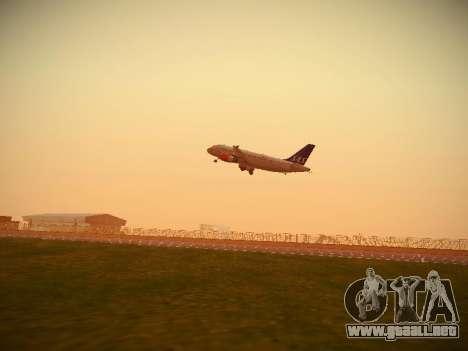 Airbus A319-132 Scandinavian Airlines para visión interna GTA San Andreas