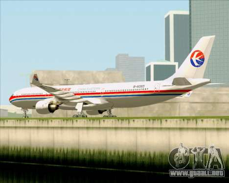 Airbus A330-300 China Eastern Airlines para GTA San Andreas vista hacia atrás