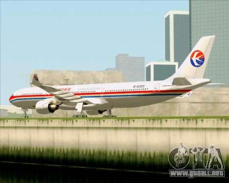 Airbus A330-300 China Eastern Airlines para GTA San Andreas vista hacia atrás