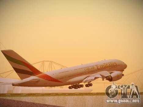 Airbus A380-800 Emirates para la visión correcta GTA San Andreas