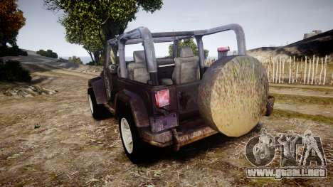Jeep Wrangler Unlimited Rubicon para GTA 4 Vista posterior izquierda
