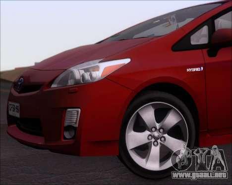 Toyota Prius para vista inferior GTA San Andreas