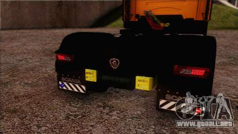 Scania R500 Streamline para vista lateral GTA San Andreas