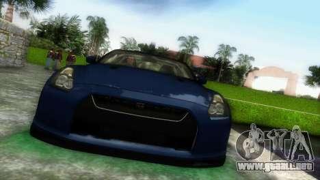 Nissan GT-R SpecV Black Revel para GTA Vice City left
