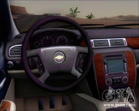 Chevrolet Silverado Gope para visión interna GTA San Andreas