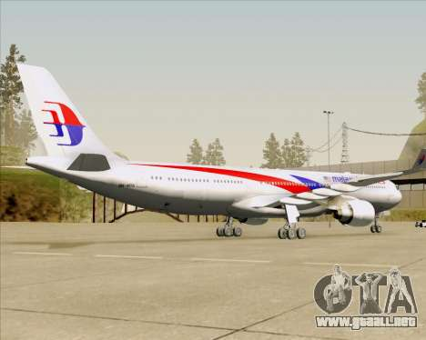 Airbus A330-323 Malaysia Airlines para GTA San Andreas vista hacia atrás