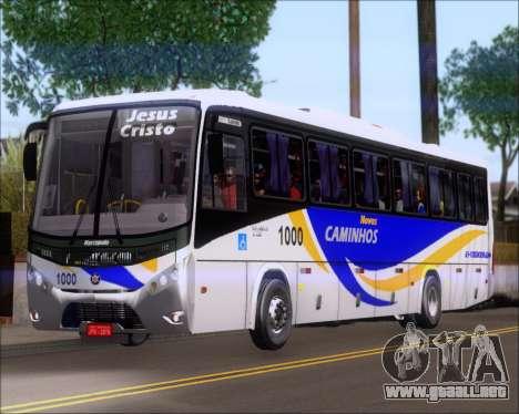 Marcopolo Ideale 770 - Volksbus 17-230 EOD para GTA San Andreas vista posterior izquierda